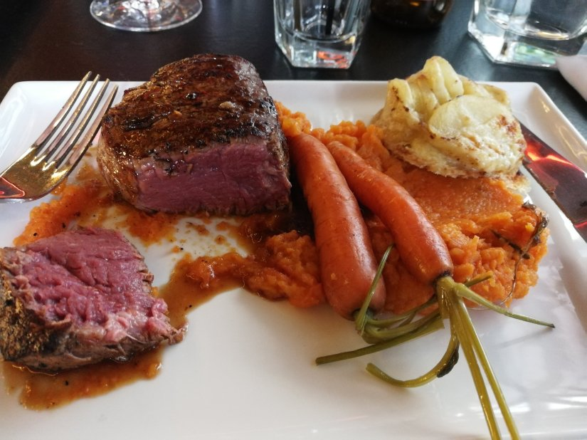 Softshell Crab, Wagyu Steak, and Sticky Date Pudding at the Grand Bar and Bistro, CBD St GeorgesTerrace