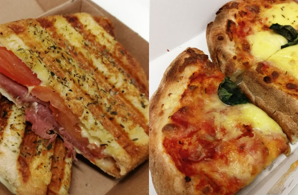 Sicilian Toastie and Margherita Pizza, The Italian Corner, William Street